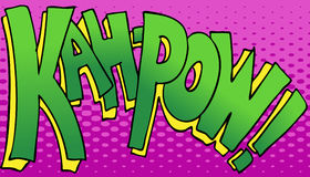 Kahpow Punch Sound Royalty Free Stock Photography