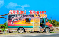 Kahuku Shrimp Wagon Royalty Free Stock Image