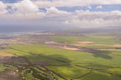 Kahului, Maui. An aerial view approaching Kahului, Maui stock photo