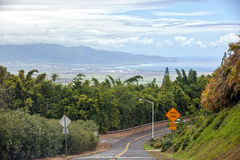 Kahului from Up Country Royalty Free Stock Images