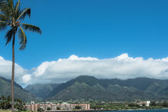 Kahului view from the beach, Maui, Hawaii Royalty Free Stock Photography