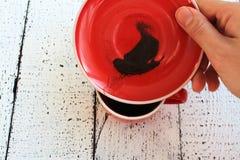 Kahve Falı, fortuna del caffè Immagini Stock Libere da Diritti