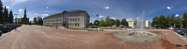 KaiÅ ¡ iadorys 镇在立陶宛的中心 免版税图库摄影