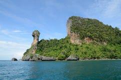KAI-ö i Krabi Thailand Arkivbilder