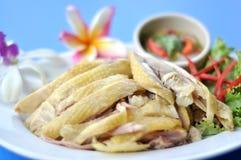 Kai cinese tailandese dell'uomo del kaw del pollo di Hainanese dell'alimento Fotografia Stock