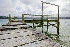 Kai Iwi lakes, Northland. Pier in Kai Iwi lakes, Northland, New Zealand Stock Images