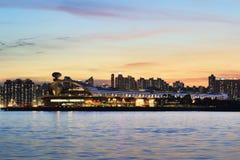 Kai Tak Cruise Terminal Hong Kong Arkivfoto