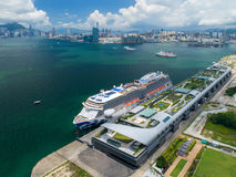 Kai Tak Cruise Terminal. Is a luxury cruise ship terminal that opened at the former Kai Tak Airport runway at Hong Kong, China . The first ship berthed on 12 Royalty Free Stock Images