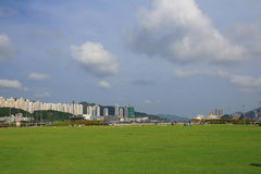 Kai Tak Cruise Terminal wordt geopend bij de plaats van vroegere Kai Royalty-vrije Stock Afbeeldingen
