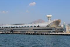 Kai Tak Cruise Terminal wordt geopend bij de plaats van vroegere Kai Stock Foto
