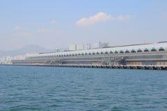 Kai Tak Cruise Terminal wordt geopend bij de plaats van vroegere Kai Stock Fotografie