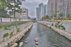 Kai Tak Nullah Midstream at San Po Kong. The kai tak river at San Po Kong hk stock images