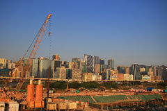 Kai Tak Runway at new development place Stock Images
