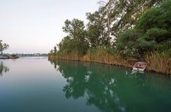 Kaiafas jezioro zachodni Peloponnese, Grecja, - fotografia royalty free