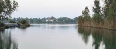 Kaiafas jezioro zachodni Peloponnese, Grecja, - obrazy stock
