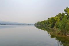 Kaiafas lake, Greece. View of Kaiafas lake at western Peloponnese, Greece royalty free stock photo