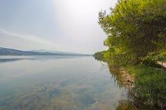 Kaiafas lake, Greece. View of Kaiafas lake at western Peloponnese, Greece stock images