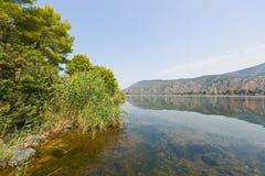 Kaiafas lake, Greece. View of Kaiafas lake at western Peloponnese, Greece royalty free stock photography