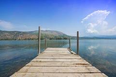 Kaiafas lake, Greece. View of Kaiafas lake at western Peloponnese, Greece royalty free stock image
