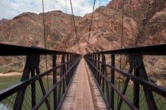 Kaibab Bridge at the Grand Canyon. Kaibab suspension bridge crossing the Colorado river at the bottom of the Grand Canyon Royalty Free Stock Photo