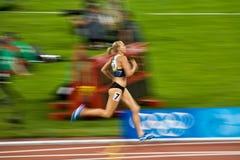 Kaie Kand sprints para acabar imagenes de archivo