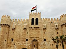 Kaietpay castle. A view of kaietpay castle which in Alexandria in Egypt stock images