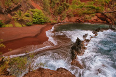 Kaihalulu red sand beach Royalty Free Stock Image