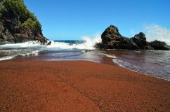 Kaihalulu red sand beach, Maui, Hawaii Stock Images