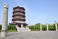 Kaihan Tower. Was built in memory of Jixin who (died 204BC) was a general serving Liu Bang (later Emperor Gaozu of Han Dynasty) during the Chu–Han contention Royalty Free Stock Photography
