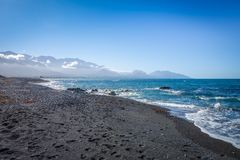 Kaikoura beach, New Zealand Royalty Free Stock Photo