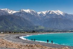 Kaikoura Beach, South Island, New Zealand Stock Photo