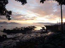 Kaikoura, la ville des Eco-voyageurs Image libre de droits