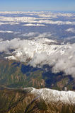 Kaikoura Mountains in Spring Aerial View, New Zealand Stock Photography