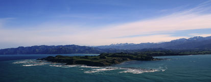 Aerial view of Kaikoura, New Zealand Royalty Free Stock Photography