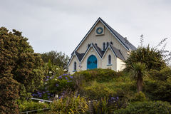 KAIKOURA, NEW ZEALAND - FEBRUARY 12 : Gospel Chapel in Kaikoura stock photos
