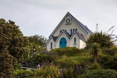 KAIKOURA NYA ZEELAND - FEBRUARI 12: Evangeliumkapell i Kaikoura Arkivfoton
