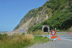 Kaikoura - Ohau Point Open One Year After Earthquake. Stock Images