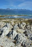 Kaikoura Peninsula Raised 1.25 metres by gigantic Earthquake Stock Image