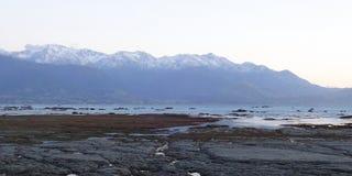 Kaikoura Range Above Ocean Royalty Free Stock Photo
