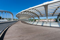 Kaiku bridge, Barakaldo, Bizkaia Royalty Free Stock Photography