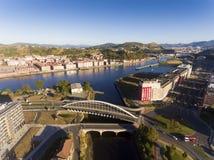Kaiku bridge, Barakaldo. Kaiku bridge in Barakaldo, Bizkaia, Basque Country, Spain stock photography