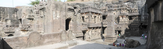 Kailas Temple in Ellora, Maharashtra state Royalty Free Stock Photography