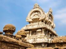 Kailasanathar寺庙看法在甘吉布勒姆,印度 库存照片