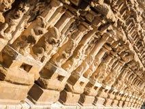 Kailasanathar寺庙看法在甘吉布勒姆,印度 免版税图库摄影