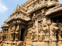 Kailasanathar寺庙看法在甘吉布勒姆,印度 免版税库存图片