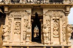 Kailasanathar寺庙看法在甘吉布勒姆,印度 图库摄影