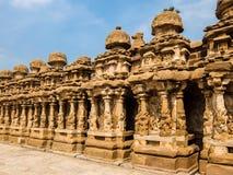 Kailasanathar寺庙看法在甘吉布勒姆,印度 库存图片