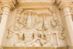 Kailasanathar寺庙看法在甘吉布勒姆,印度 免版税库存照片