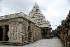 Kailasanathar寺庙, kanchipuram,印度 免版税库存照片