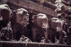 Kailash或Kailasanatha洞寺庙在Ellora陷下 印度 库存照片